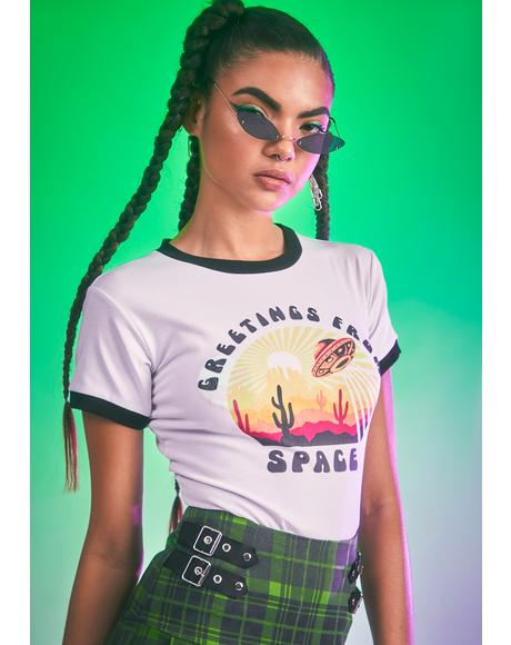 Closer To The Sun Ringer Tee