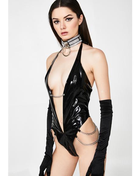 Kitty Kat Club Vinyl Bodysuit