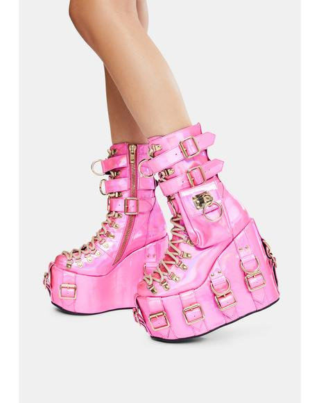 Sweetest Bounty Holographic Traitor Boots