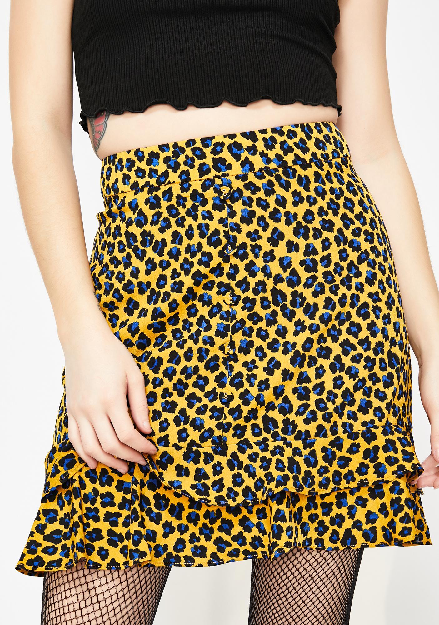 Cute N' Catty Leopard Skirt