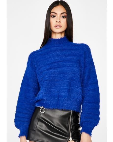 Iconic Ice Queen Fuzzy Sweater