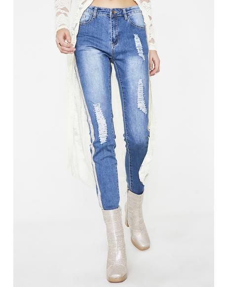 Take All Control Rhinestone Jeans
