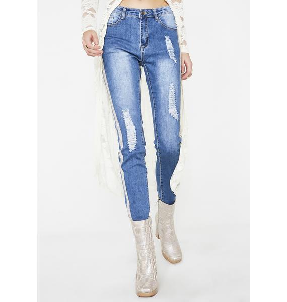 Take All Control Rhinestone Jeans