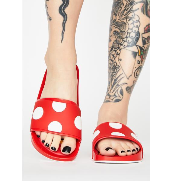 Melissa Minnie Mouse N' Friends Slide Sandals