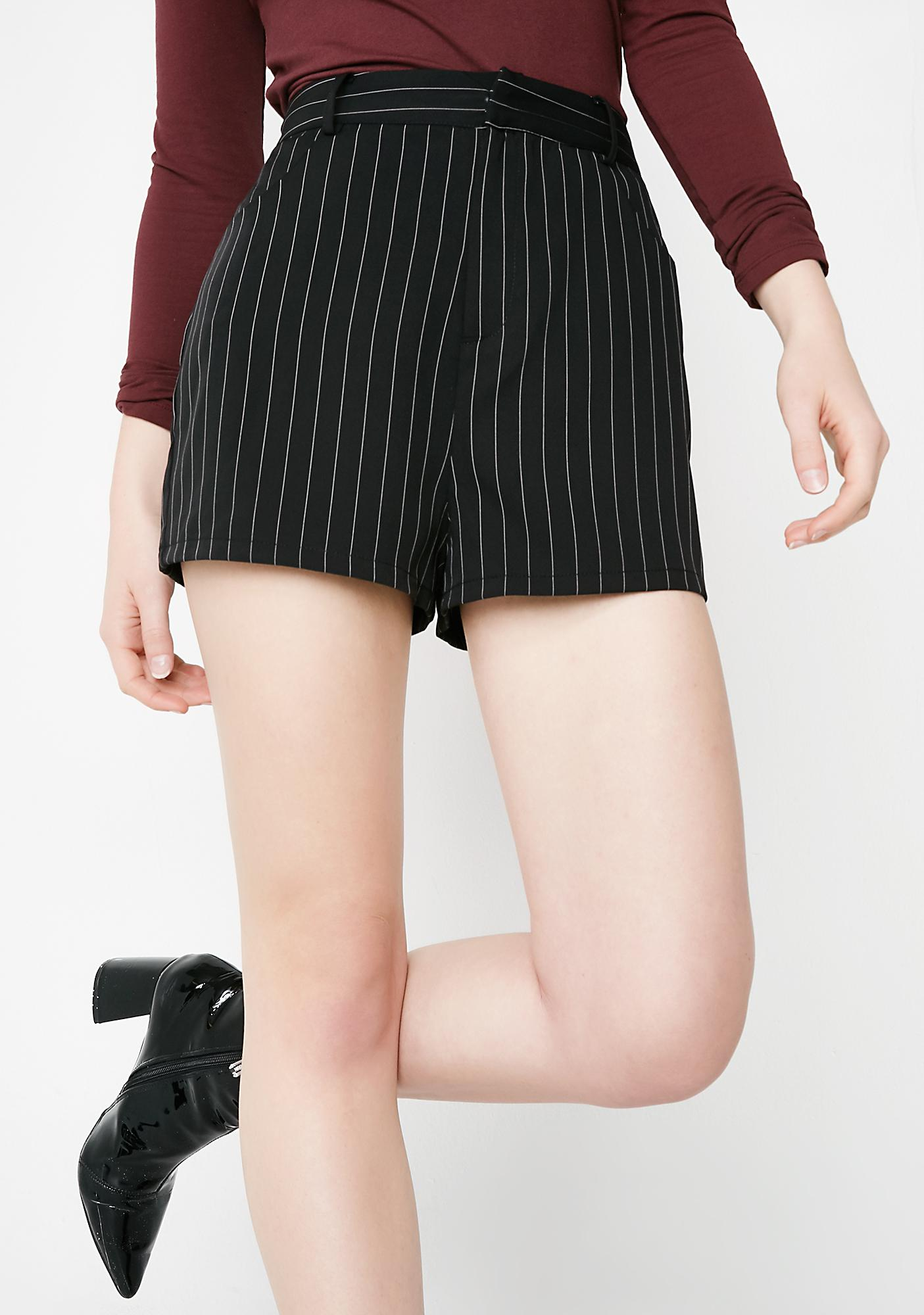 Filthy Rich Pinstripe Shorts