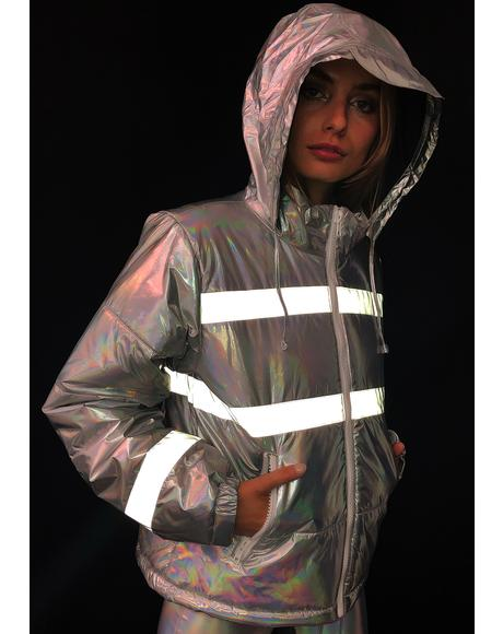 Northern Soul Reflective Puffer Jacket