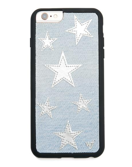 Silver Star Denim iPhone Case
