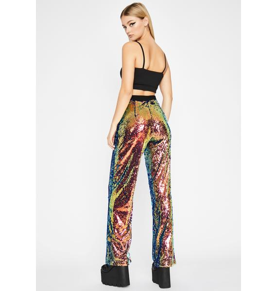 Tropical Flashy Fever Sequin Pants