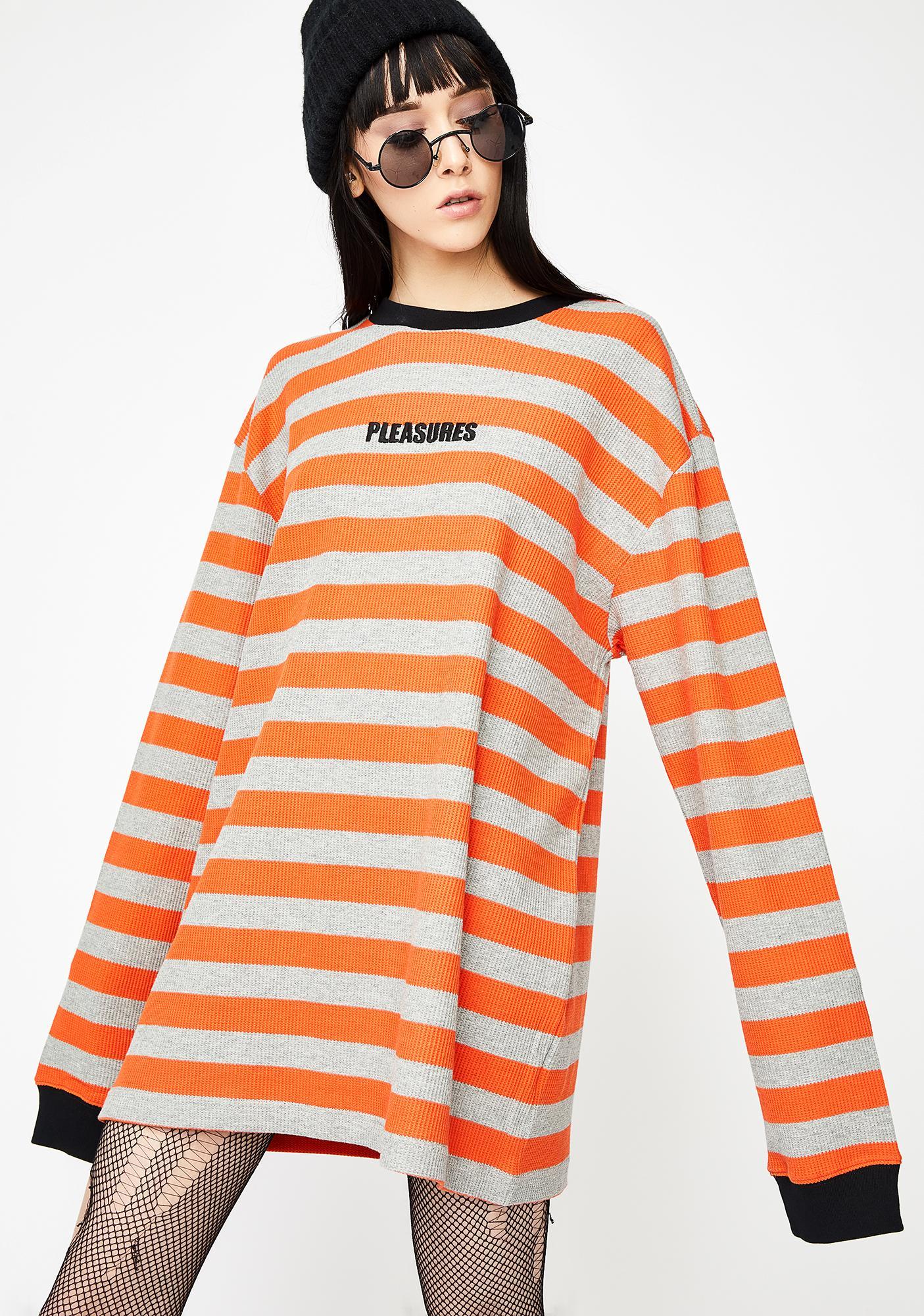Pleasures Parade Waffle Knit Long Sleeve Shirt