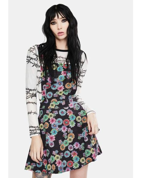 Floral Rainbow Overall Dress