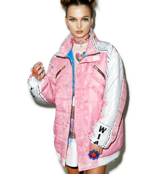 W.I.A X Dolls Kill USB Padding Bomber Jacket