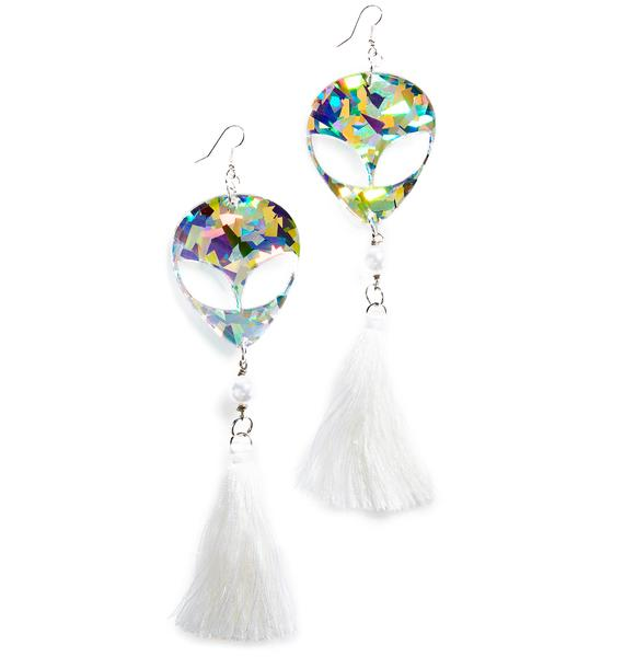 Trixy Starr Alien Tassel Earrings