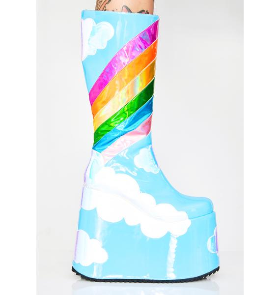 Club Exx Heavenly Horizon Platform Boots