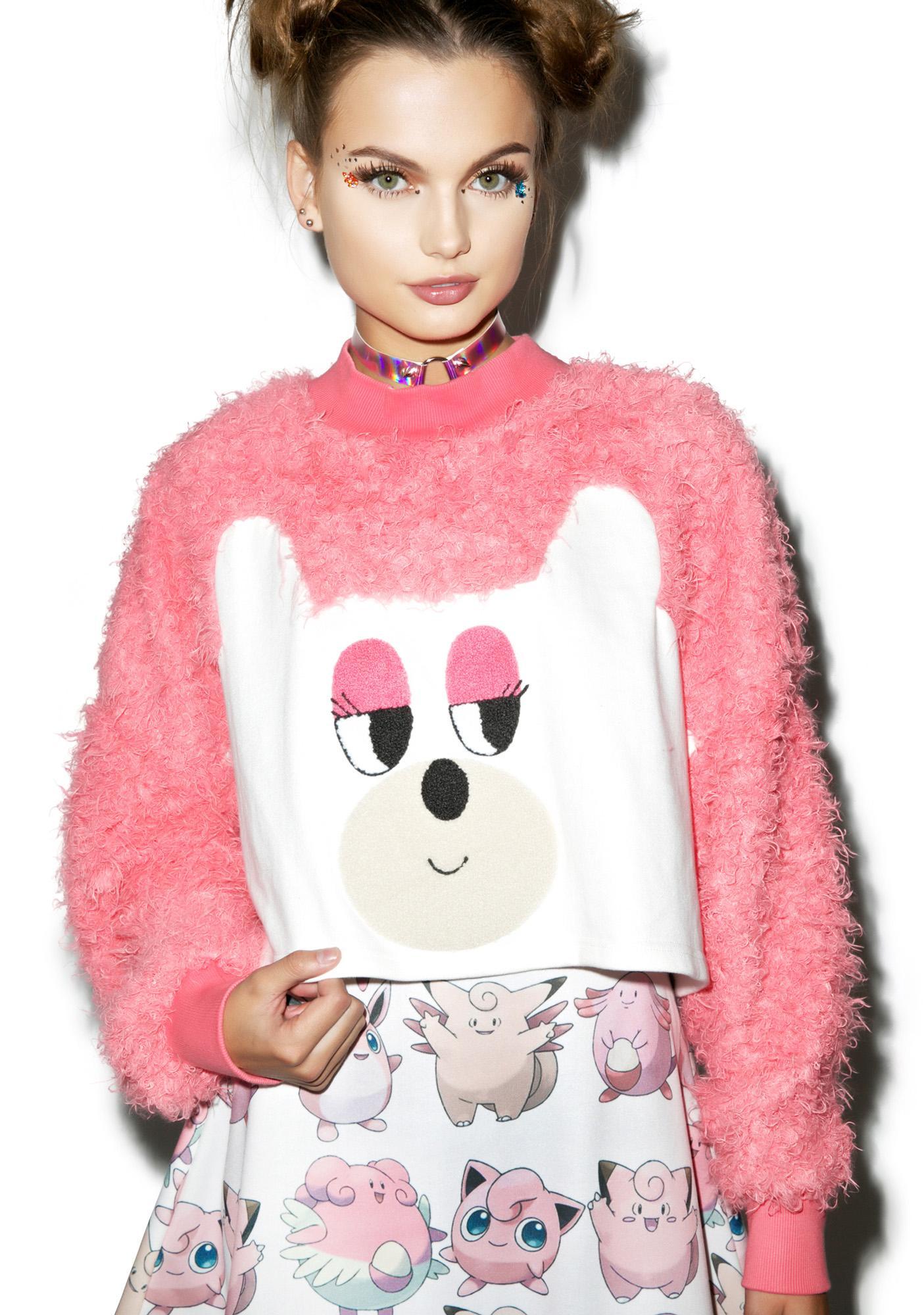 Lazy Oaf Fur Bear Sweatshirt