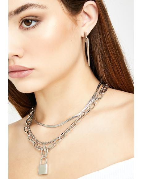 Honest Romance Lock Necklace