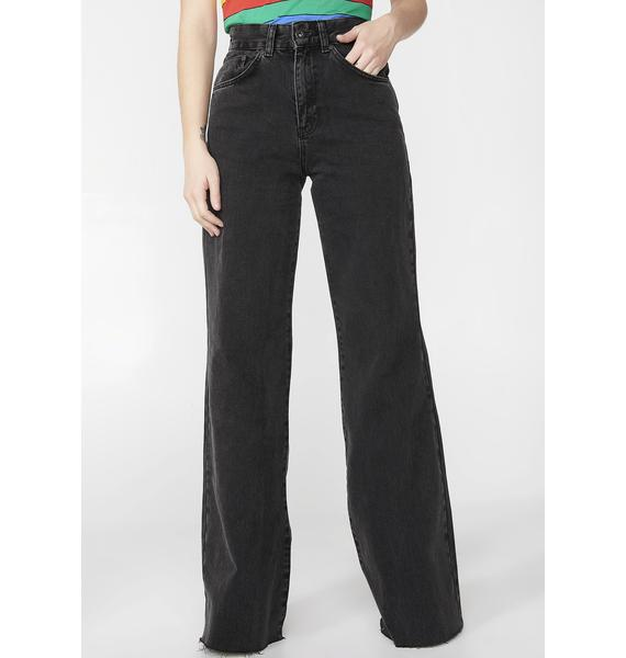 The Ragged Priest Charcoal Trip Skater Jeans
