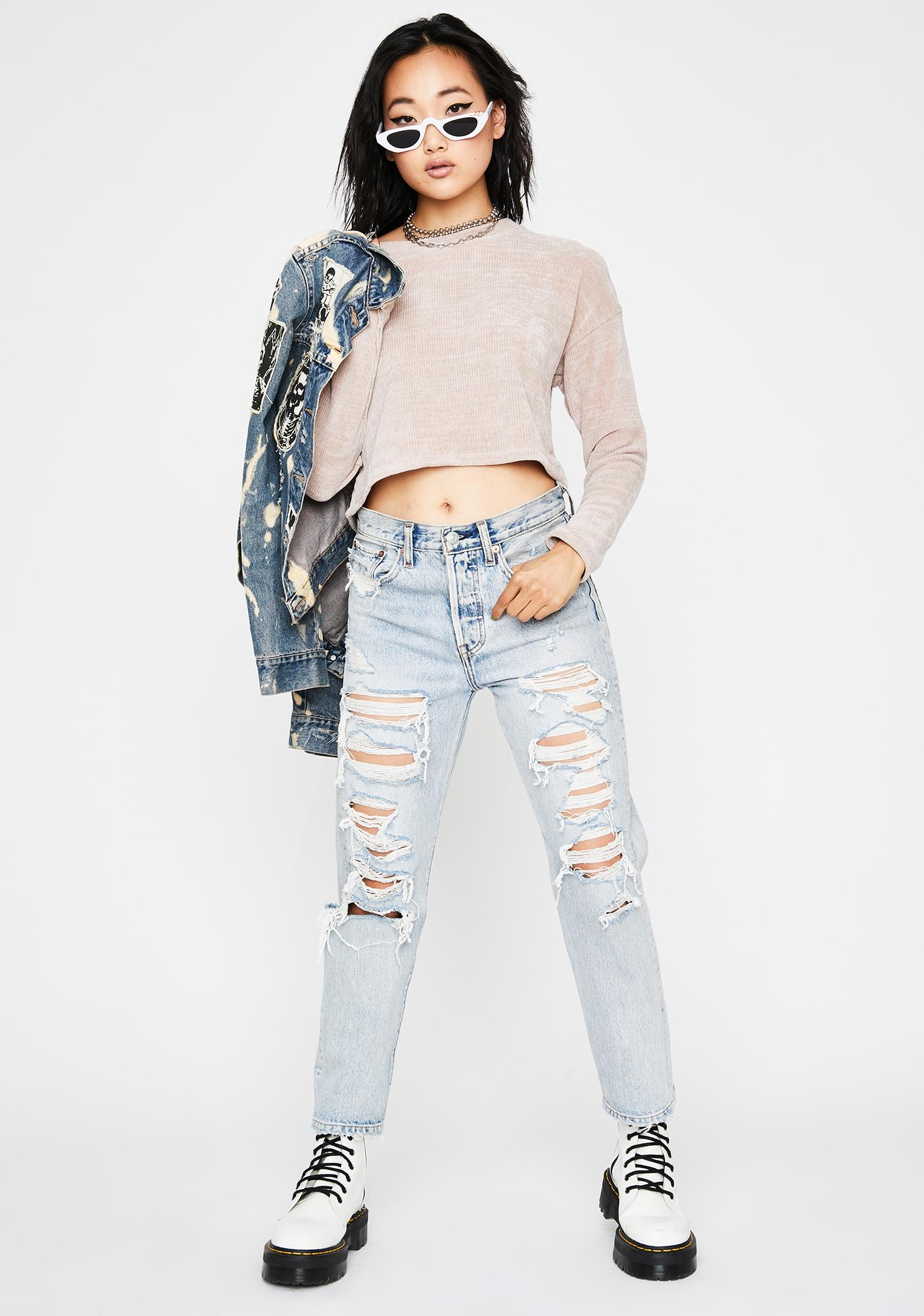 Natural Softcore Trixx Crop Sweater