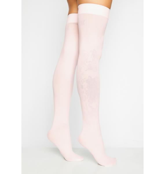 Angel Of Mine Sheer Thigh Highs