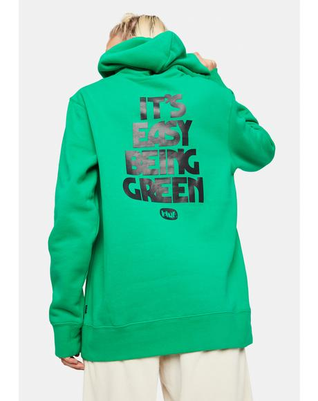 Easy Green Graphic Hoodie