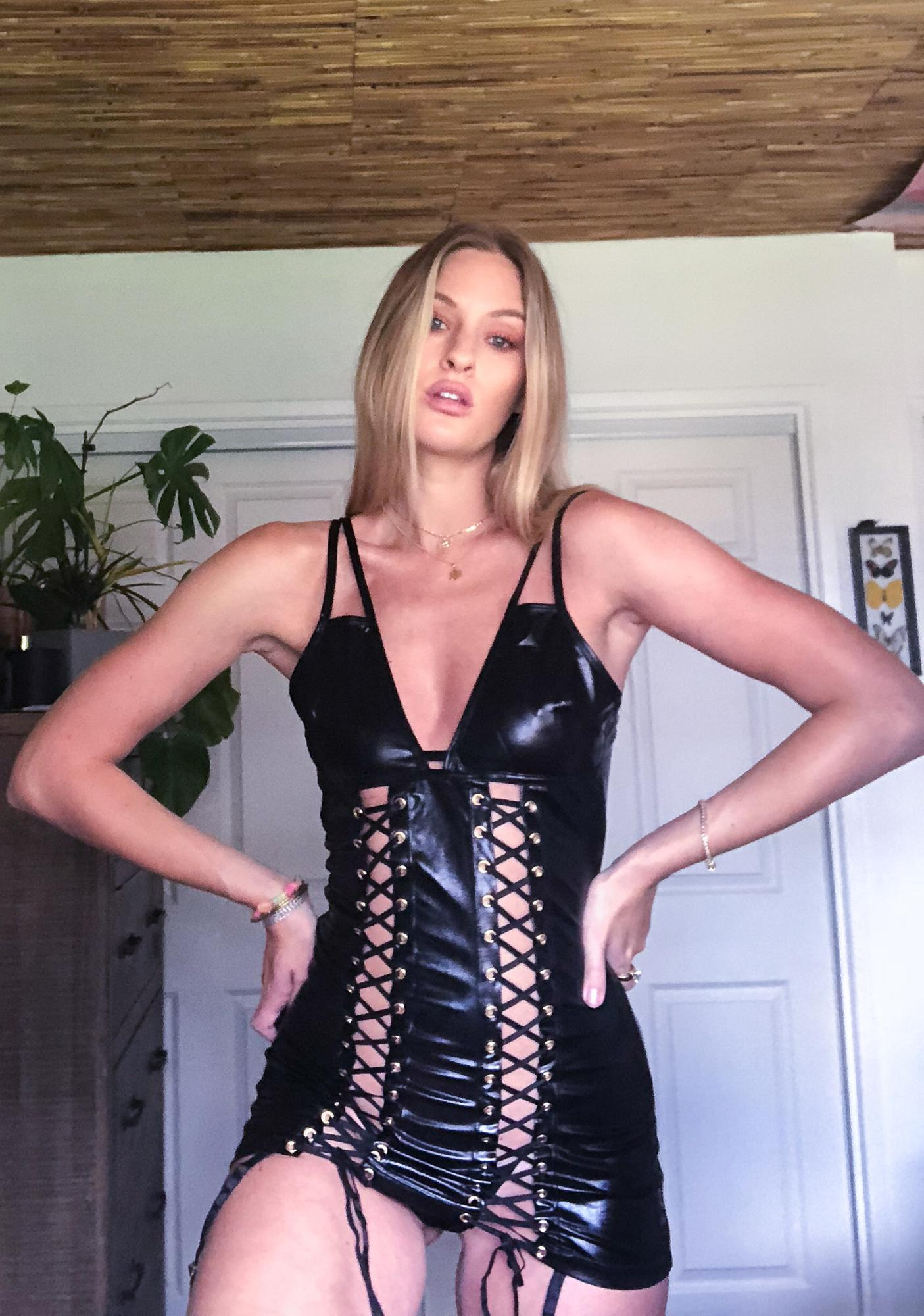 Earned It Lace Up Chemise