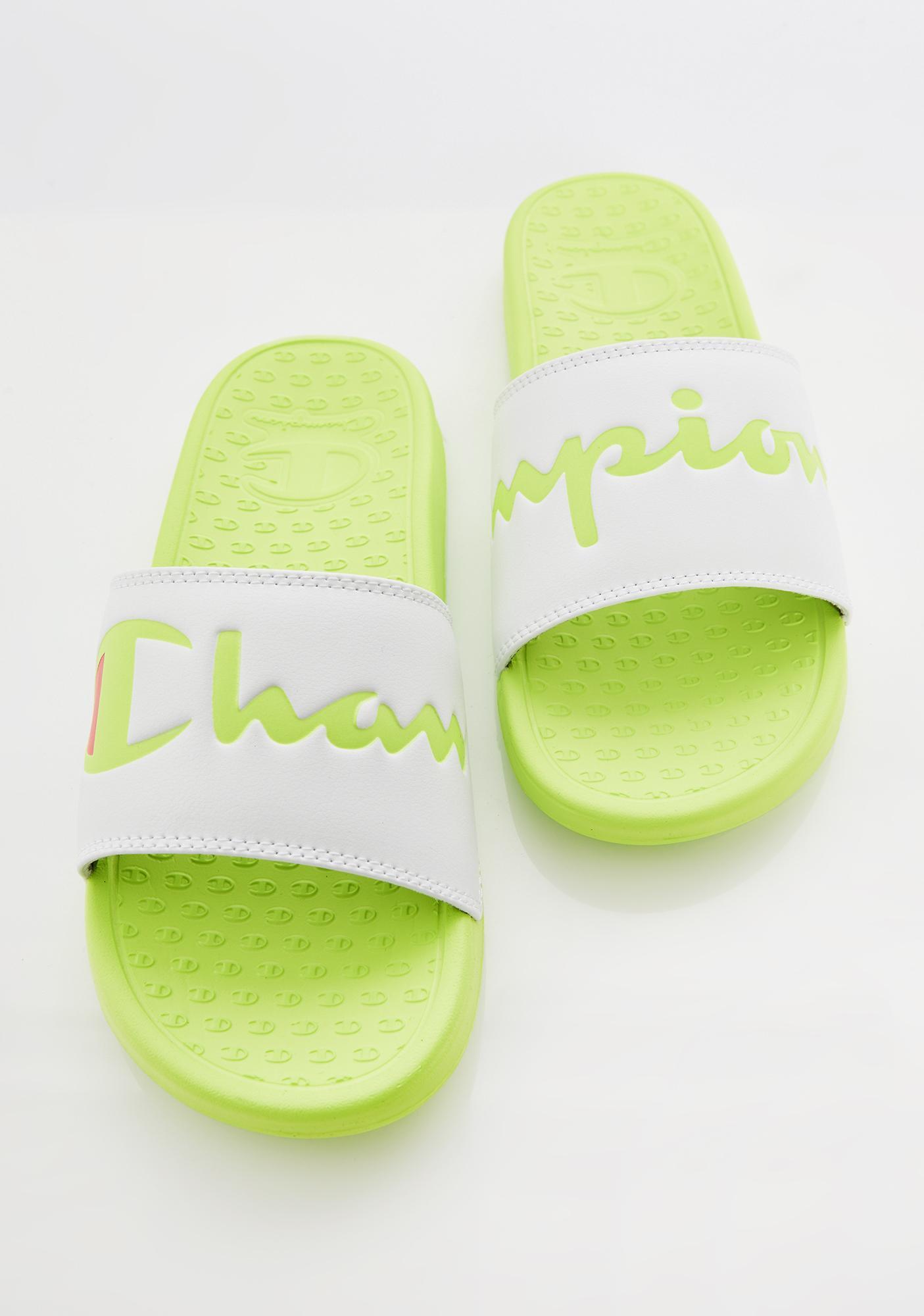 Champion Lime Super Slide Split Script Slides