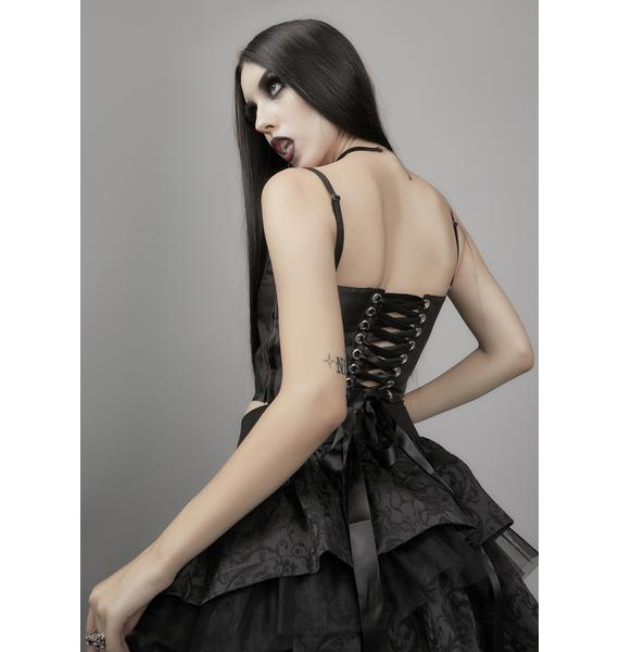Widow Day Of Wrath Corset Top