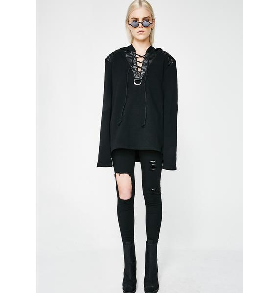 Punk Rave Daily Punk Hooded Long Sleeve Sweater