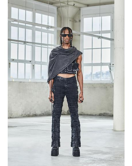 Bassline Distressed Patchwork Pants