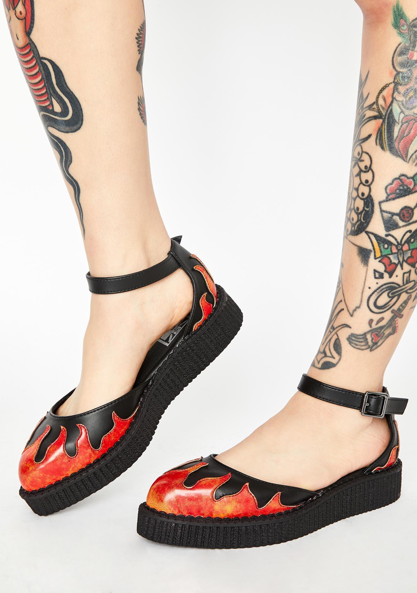 T.U.K. TUKskin Flame Creeper Sandals