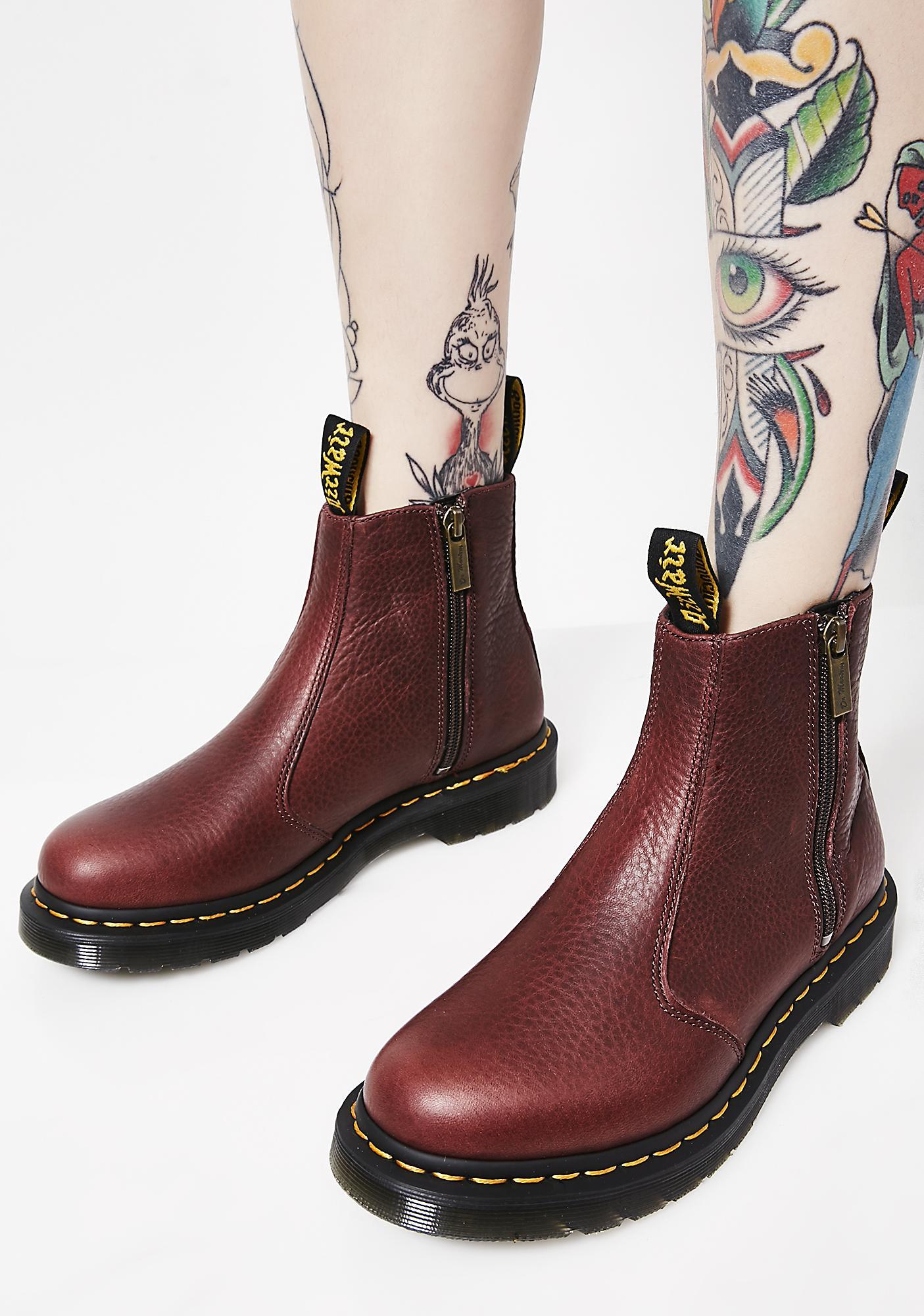 Dr. Martens 2976 Zip Ankle Boots