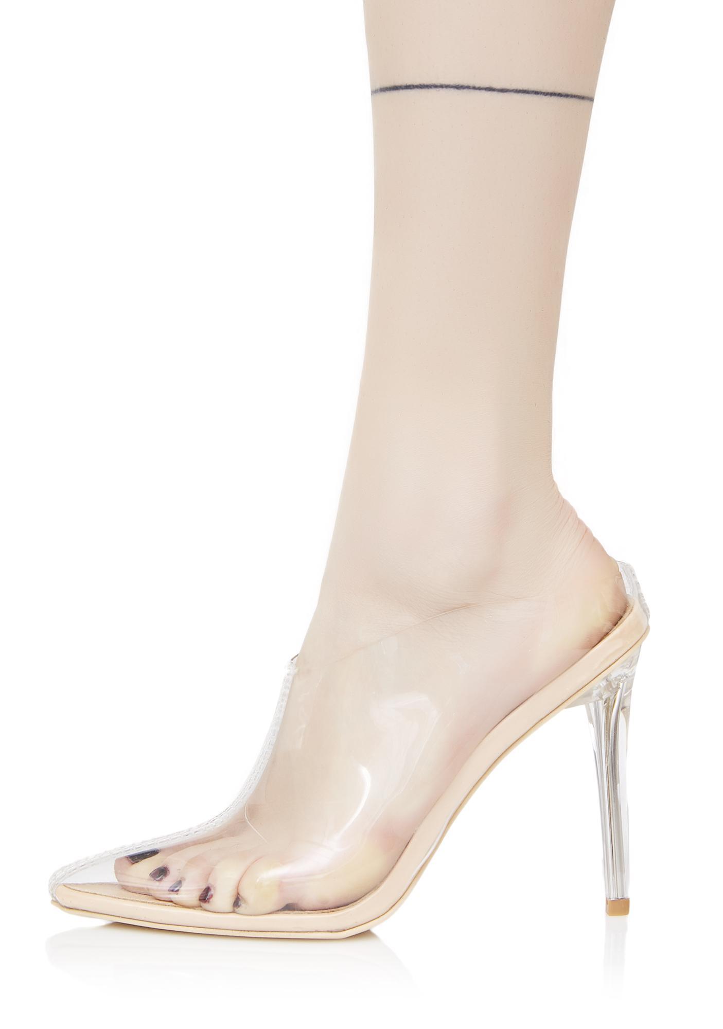 Glass Slipper Clear Heels