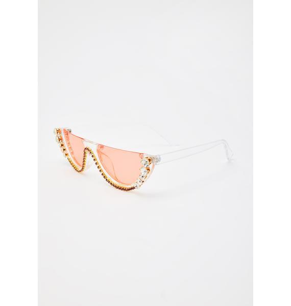 Juicy True Diva Rhinestone Sunglasses