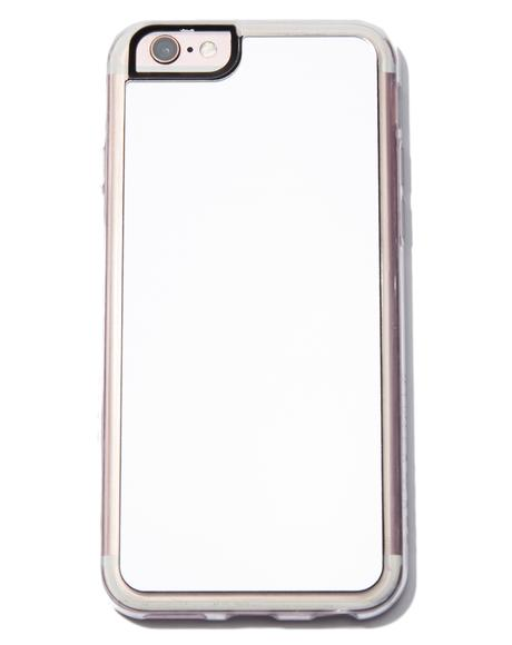 Silver Reflective Mirror iPhone Case