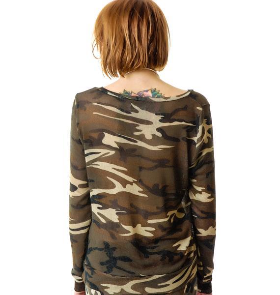 Lauren Moshi Margaret Long Sleeve Pullover Sweater