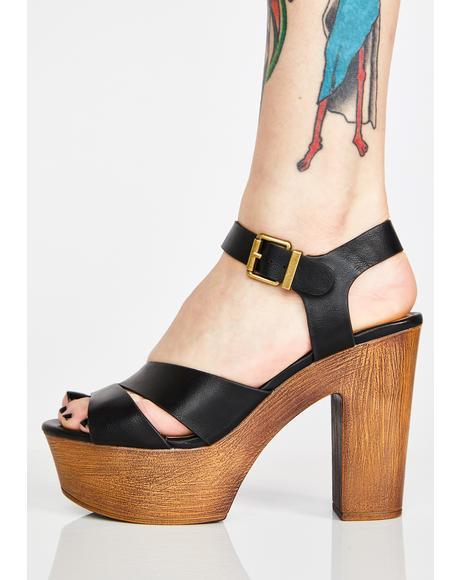 Morning Mimosas Platform Sandals