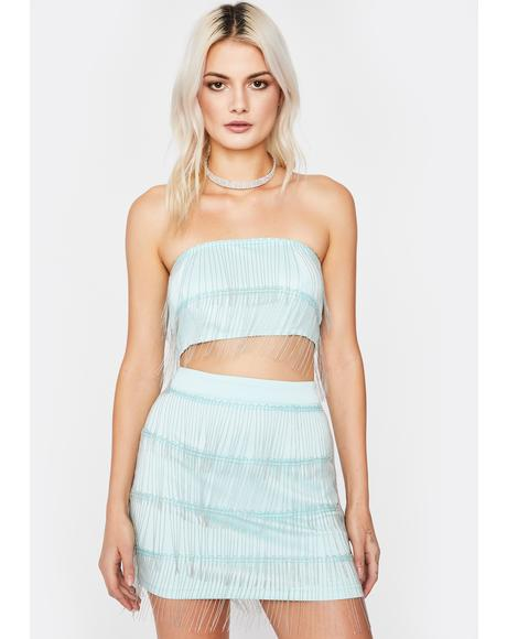 Mint Shimmer N' Shake Skirt Set