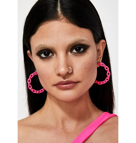 Slime Squad Chain Earrings
