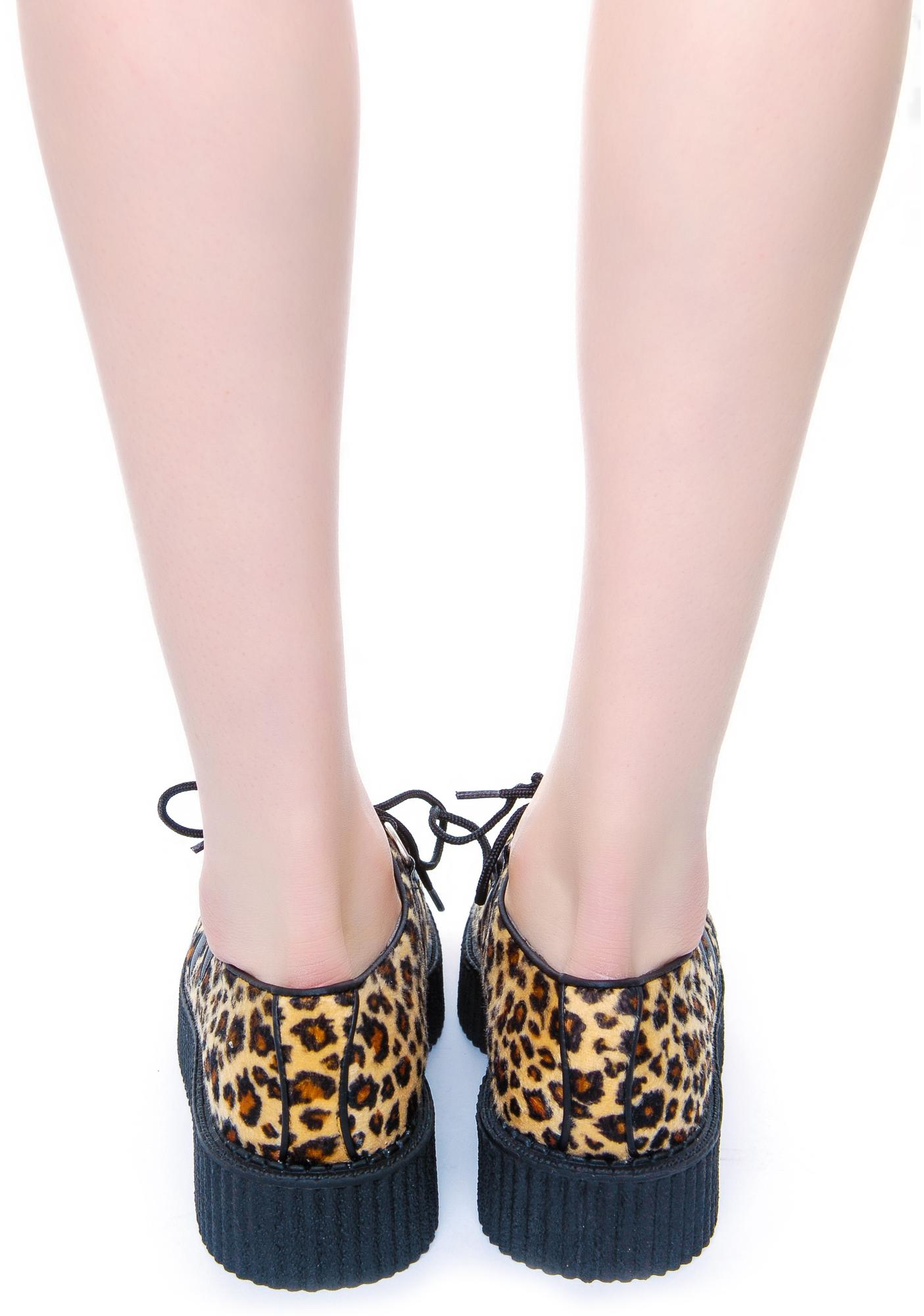 T.U.K. Leopard Round Low Creeper