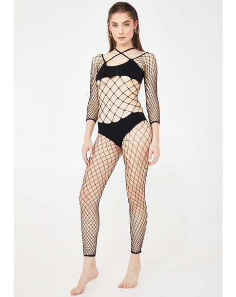 All For Yew Bikini Fishnet Bodystocking