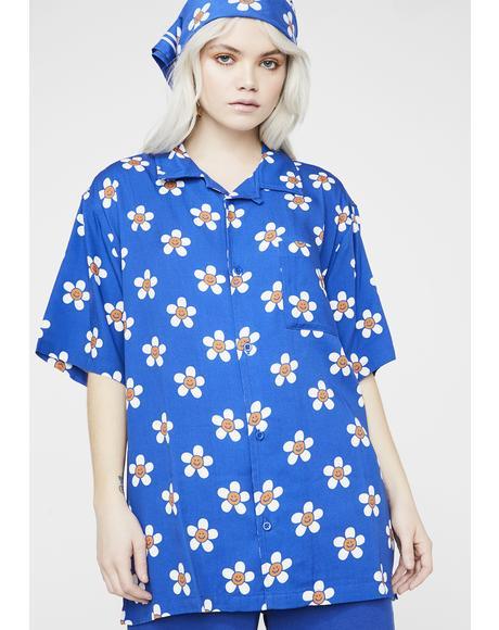 Happy Flower Bowling Shirt