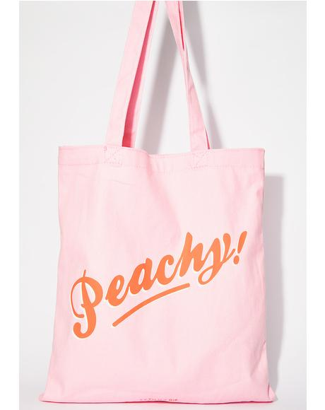 Peachy Tote Bag