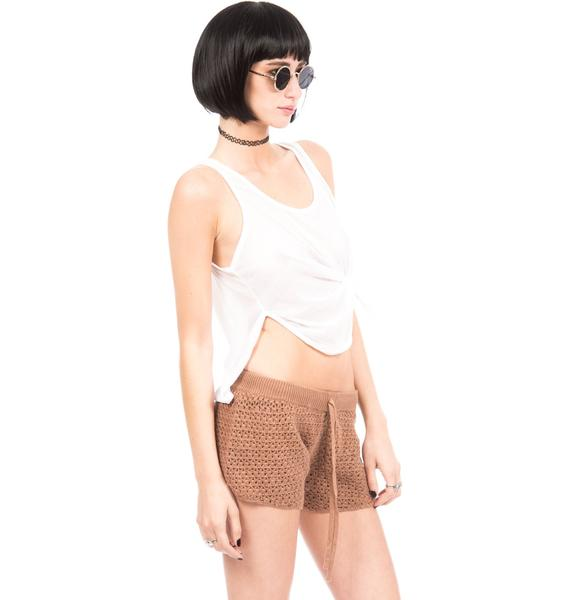 One Teaspoon Haystack Crochet Shorts