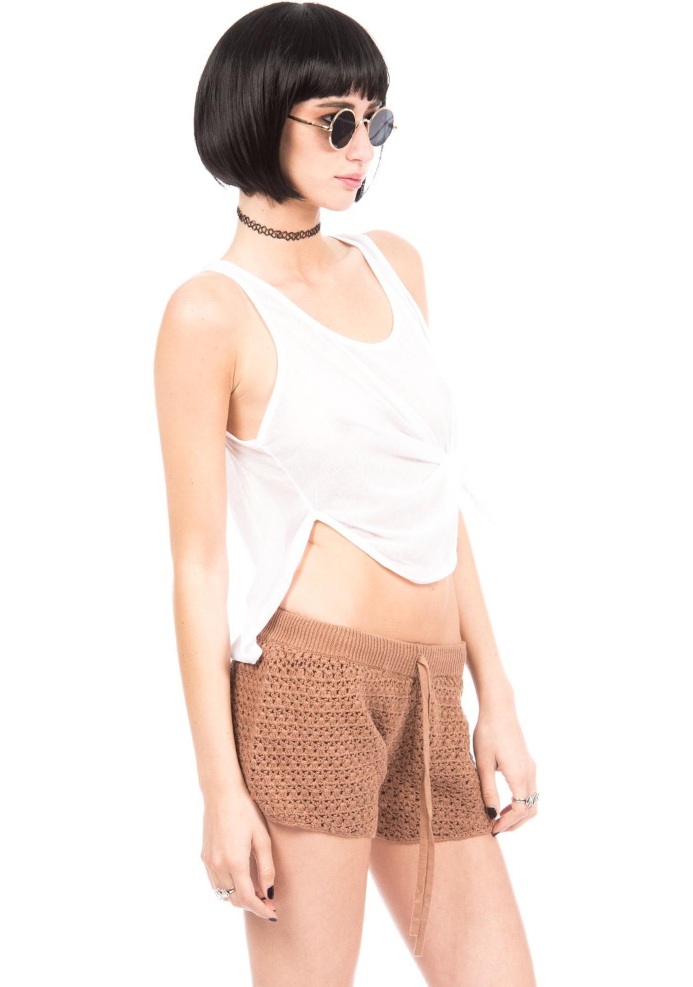 One Teaspoon Haystack Crochet Shorts