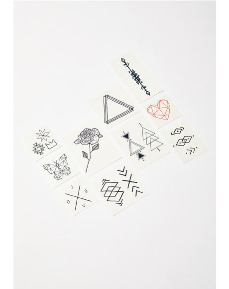 The Geometric Temporary Tattoo Pack