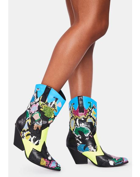 Down To Party Heeled Boots