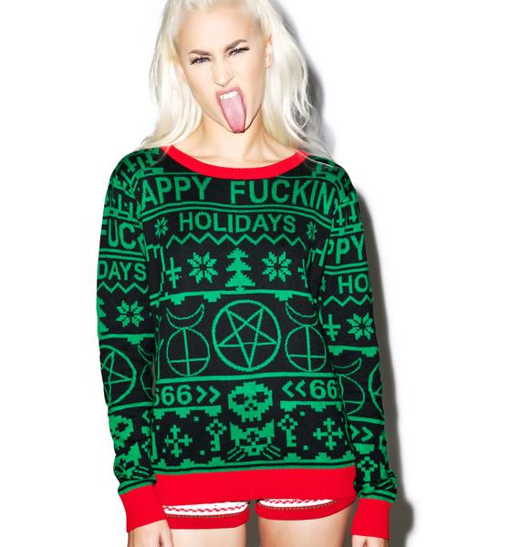 Happy Fucking Holidays Sweater