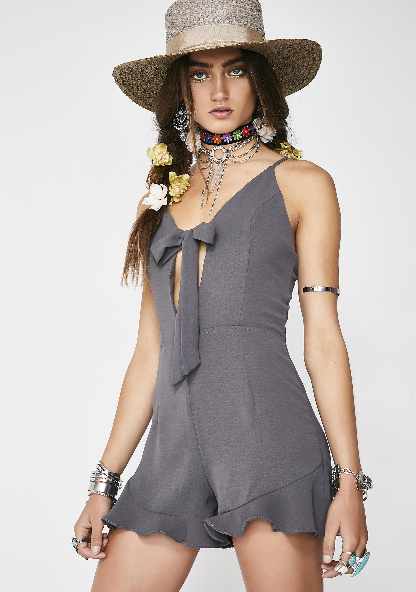 Float On Tie Front Romper