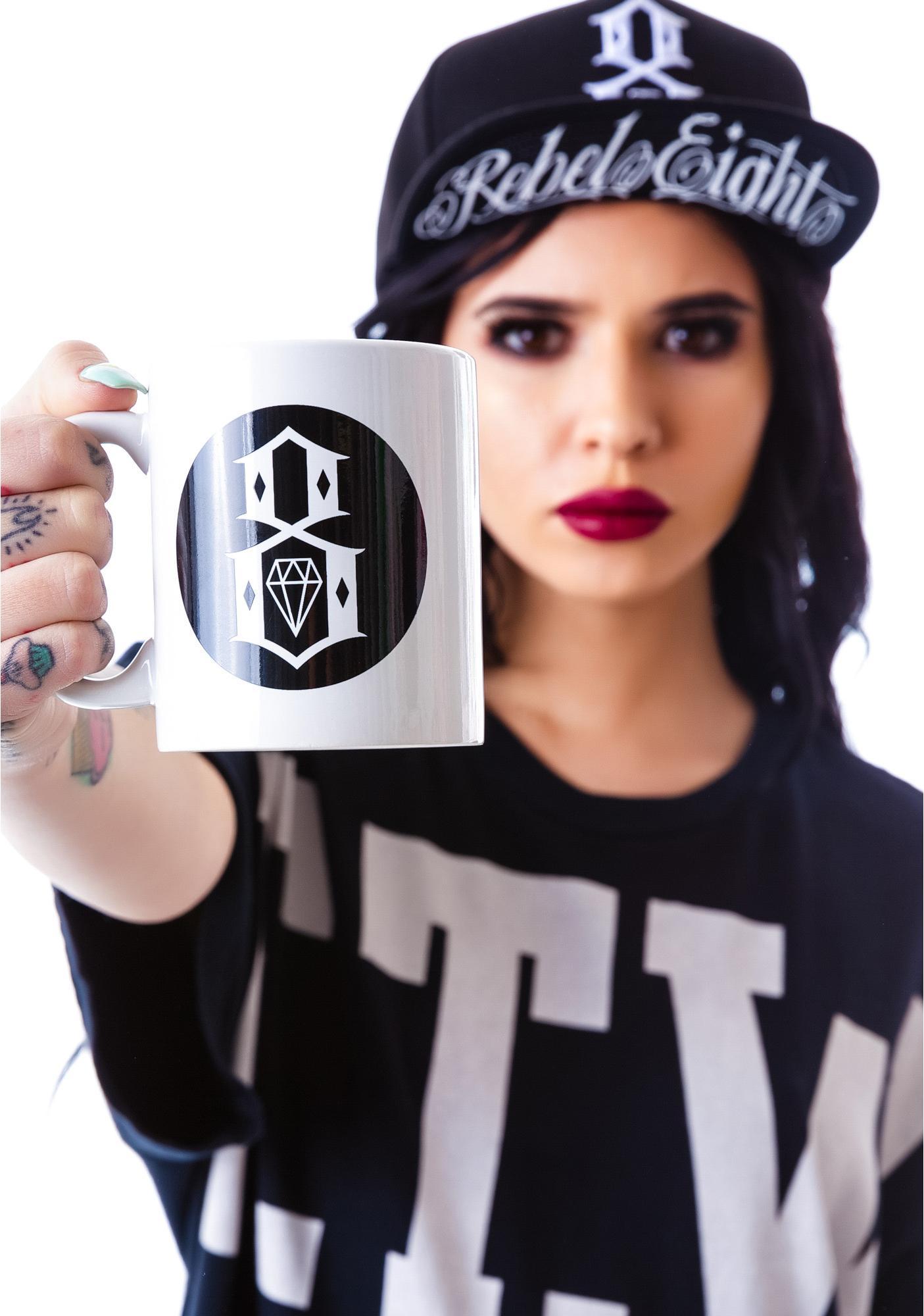 Rebel8 Round Logo Mug