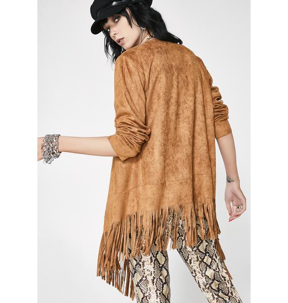 Livin' Free Fringe Kimono