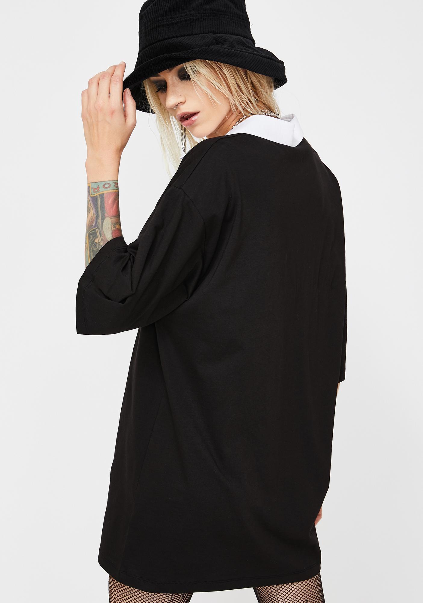 NEW GIRL ORDER Dragon Print Polo Shirt Dress